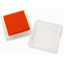 Штемпельна подушка з пігментним чорнилом, Оранжева, 2,5*2,5см