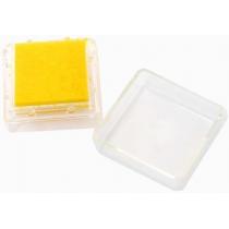 Штемпельна подушка з пігментним чорнилом, Жовта, 2,5*2,5см