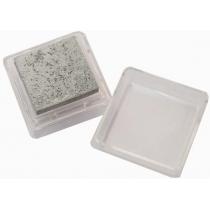 Штемпельна подушка з пігментним чорнилом, Срібна, 2,5*2,5см