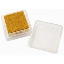 Штемпельна подушка з пігментним чорнилом, Золота, 2,5*2,5см