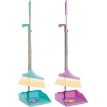 Набір для прибирання Optima cleaning: совок + щітка з довгою хромованою ручкою 26х90 см