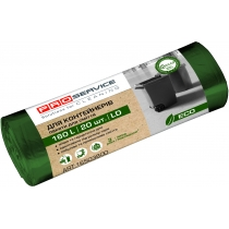 Пакет для смiття п/е PRO ECO 90*110 зелений ЛД 160л/20шт.