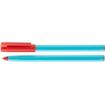 Ручка кулькова OPTIMA HYPE 0,7 mm. Корпус блакитний, пише червоним