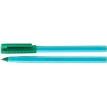 Ручка кулькова OPTIMA HYPE 0,7 mm. Корпус блакитний, пише зеленим