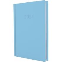 Щоденник датований, SATIN, блакитний, А5