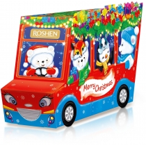 Новорічний подарунок Веселий автобус ВКФ 320г, Roshen №5