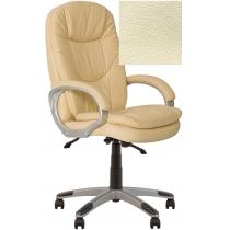 Крісло, BONN KD Anyfix PL35, Екошкіра, бежевий, пласт. база, пласт. підлокітн. з м'яким наклад.