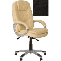 Крісло, BONN KD Anyfix PL35, Екошкіра, чорний, пласт. база, пласт. підлокітн. з м'яким наклад.