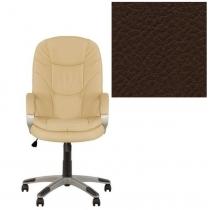 Крісло, BONN KD Tilt PL35, Екошкіра, сірий, пласт. база, пласт. підлокітн. з м'яким наклад.