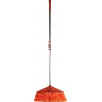 Мітла універсальна Optima cleaning з хромованою ручкою 115 см (руда)