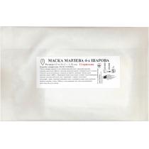 Маска марлева 4-х шарова стерильна, 12х21 см, марля