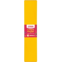Папір гофрований 100%, 50х250см, темно-жовтий