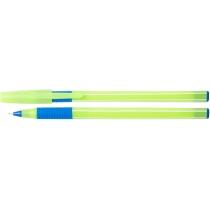 Ручка масляна ECONOMIX  DREAM 0,7 мм, корпус зелений пише синім