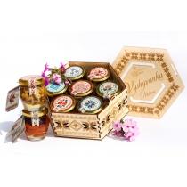 Подарунковий набір медовий Vyshyvanka Exclusive, 840 гр.