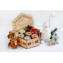 Подарунковий набір медовий Vyshyvanka New Year, 840 гр.