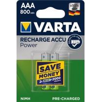 Акумулятор VARTA ACCU AAA 800 mAh BLI 2 (READY 2 USE)
