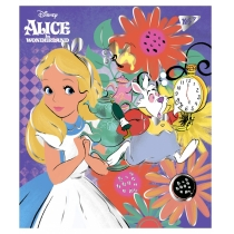 "Зошит 18 аркушів, лінія,  фольга золото+софт-тач ""Alice in wonderland"""