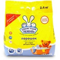Пральний порошок Ушастий нянь для дитячої білизни з перших днів життя для всіх типів прання 2,4 кг