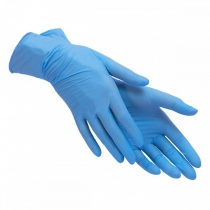 Рукавички нітр. огл., нест. неприпуд, сині, 200шт/уп, XL (10уп/ящ), Care 365