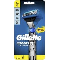 Бритва Gillette Mach3 Turbo 3D c 2 cмена касетами