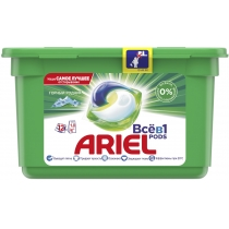 Капсули для прання Ariel Pods Все-в-1 Гірський джерело 12 шт
