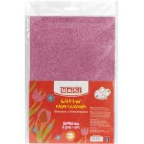 Флізелін з блискітками, 20х30 см, 220±10 г/м 2, рожевий
