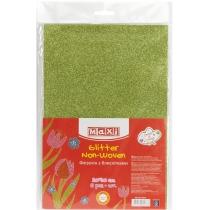 Флізелін з блискітками, 20х30 см, 220±10 г/м 2, зелений