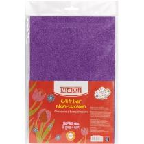 Флізелін з блискітками, 20х30 см, 220±10 г/м 2, фіолетовий
