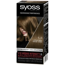 Стійка фарба для волосся SYOSS 5-8 Горіховий Світло-каштановий 115 мл