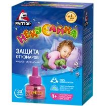 Рідина від комарів РАПТОР для дітей без запаху 30 ночей