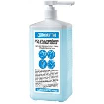 Засіб дезінфекційний для обробки рук СЕПТОФАН UNO (1000мл з дозатором квадратна пляшка)