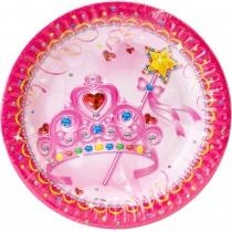 Набір з 6 тарілок паперових Princess, діаметр 17,78 см