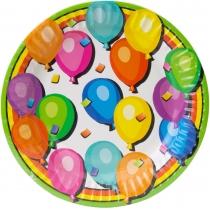 Набір з 6 тарілок паперових Balloons, діаметр 17,78 см