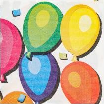 Набір з 20 двошарових серветок Ballons 33х33 см