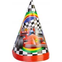 Набір з 6 ковпаків на голову із гумовою стрічкою Racing, висота 15,24 см