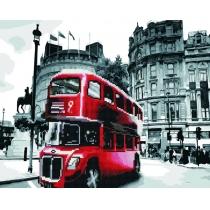 """Діамантова мозаїка """"Лондонський автобус"""", 40*50 см"""