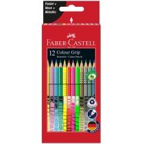 Олівці кольорові Faber-Castell GRIP 12 кольорів