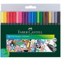 Набір ручок капілярних Faber-Castell GRIP 0,4мм 20шт FINE PEN