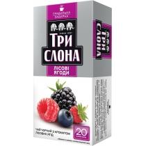 Чай чорний з ароматом лісових ягід пакетований ТРИ СЛОНА Лісова ягода 20шт х 1,3г