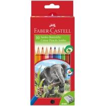 Олівці кольорові потовщені Faber-Castell JUMBO 10 кольорів з чинкою