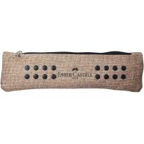 Пенал тканинний  Faber-Castell GRIP 2001  з гумкою пісочний