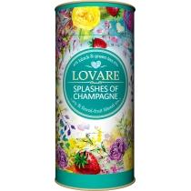 Чай асорті з ароматом суниці Lovare Бризки шампанського  80г