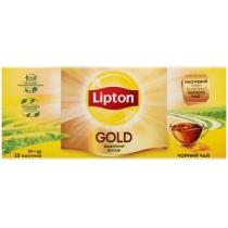 Чай чорний Lipton gold 25шт х 2г
