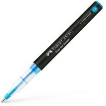 Ручка-роллер Faber-Castell Free Ink колір чорнила блакитний, 1,5 мм, одноразова