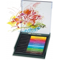 "Набір ручок-пензликів капілярних  Faber Castell PITT ARTIST PEN ""BRUSH"" BASIC 12 кольорів"
