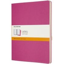 Набір зошитів (3 шт.) Moleskine Cahier 19 х 25 см / Лінійка Кінетичний Рожевий