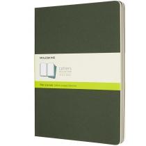 Набір зошитів (3 шт.) Moleskine Cahier 19 х 25 см / Нелінований Зелений