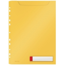 Файл для документів розширений А4 РР на 150 арк., Leitz Cosy, уп/3шт.,  жовтий