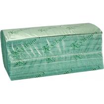 "Рушники паперові в аркушах ""Кохавинка"" V-V 200 зелені"