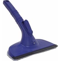 Швабра для миття вікон з пульверизатором та мікрофіброю, OPTIMA CLEANING, 220 мл, синя